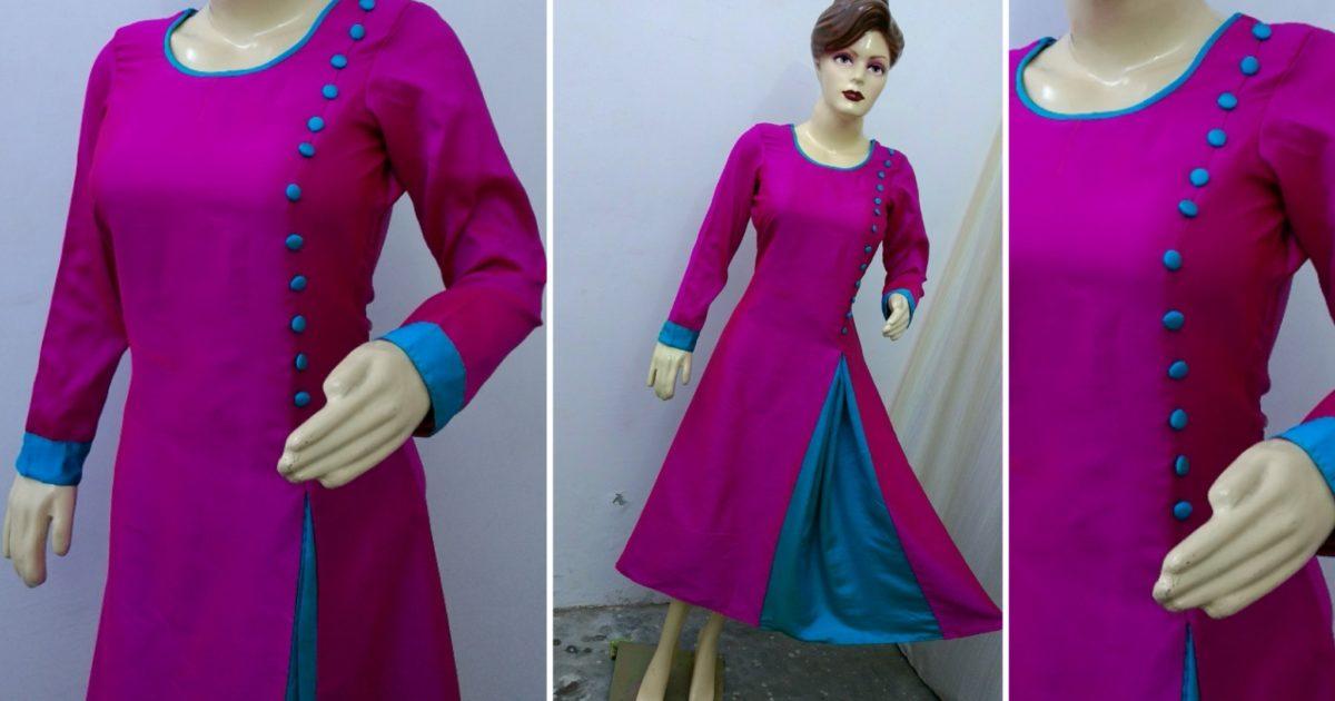Latest Gown Dress Kurti (Easy Method) Cutting And Stitching - Rup ... da7f72acb