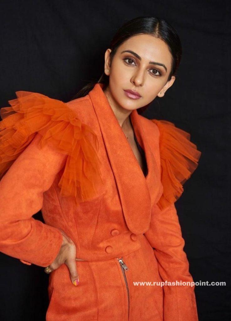 Hot Rakul Preet in Fierry Orange