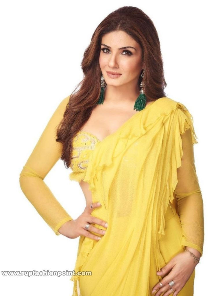 Raveena Tandon in Sizzling Yellow Saree