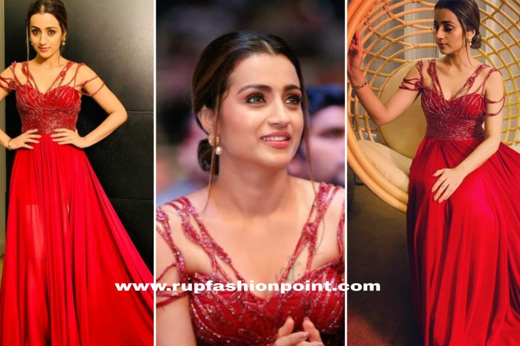 Trisha Krishnan in Red For the Red Carpet