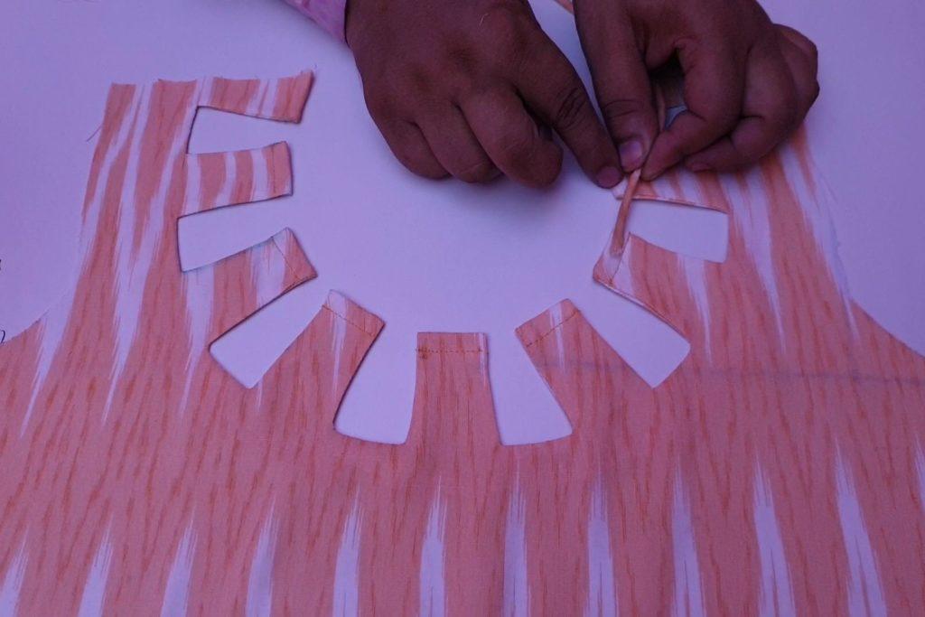 Creative Neck Design Cutting and Stitching