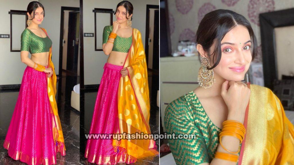 Divya Khosla Kumar in a Festive Wear