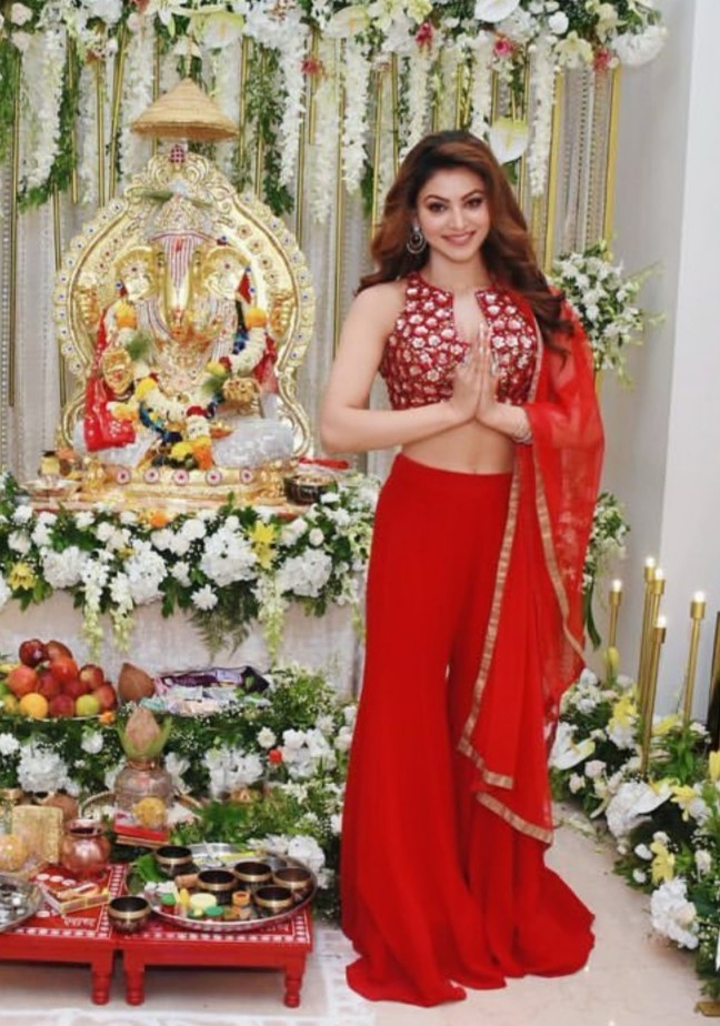 Hot Urvashi Rautela in Red