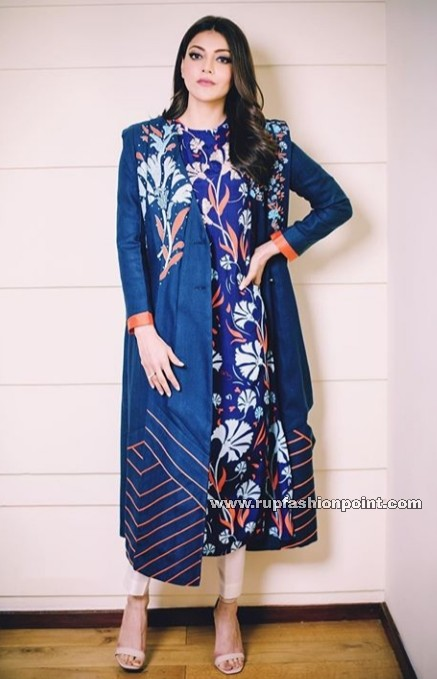 Kajal Aggarwal in Navy Blue