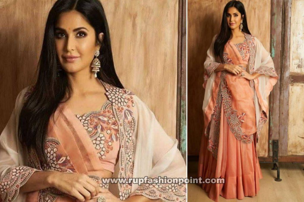 Katrina Kaif in a Stunning Peach Lehenga