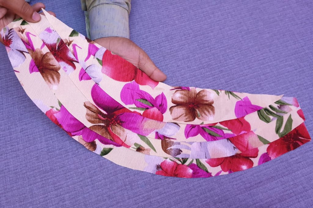 Layered Sleeve Design Cutting and Stitching