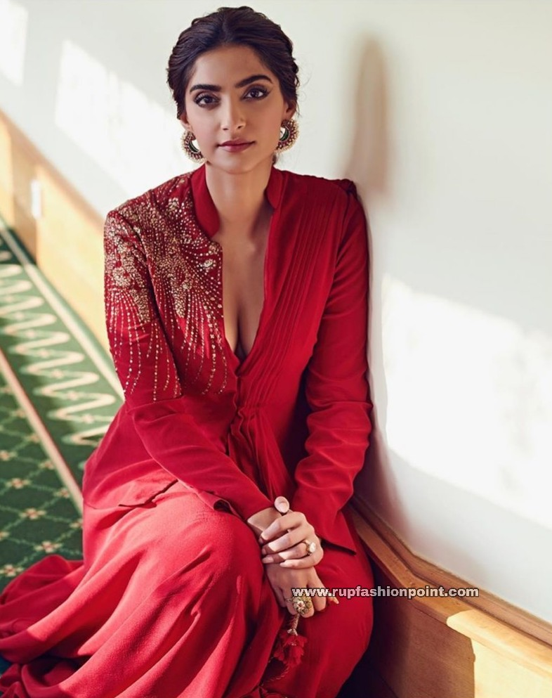 Sonam Kapoor in Red Hot Outfit