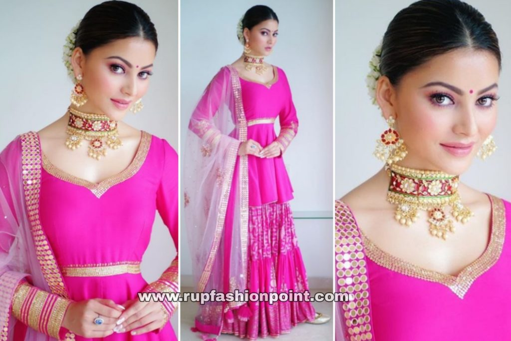 Urvashi Rautela in Bright Fuschia Pink